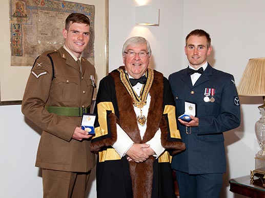 LCpl David Bolton, The Master, SAC(T) Tim Benson