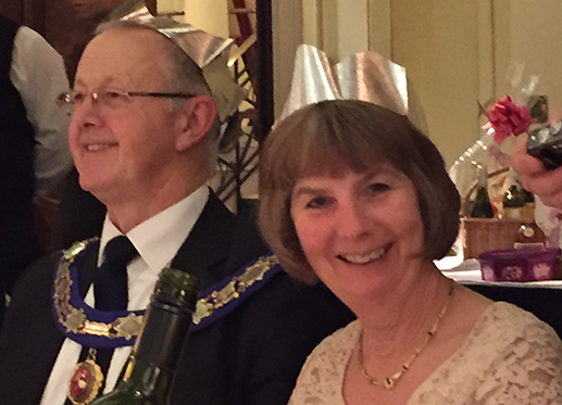 Peter and his wife at his Installation Dinner