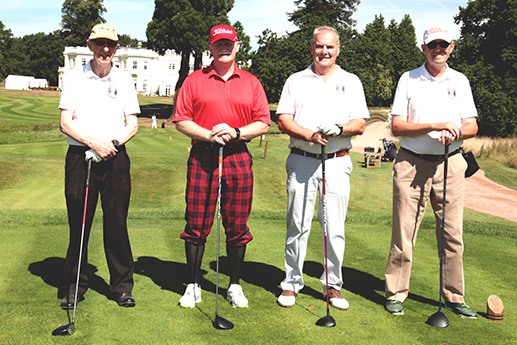 Our team at the Lord Mayor's Charity golf day. Liverymen Don Munro, Michael Munro, Tony Peters and David Hanna