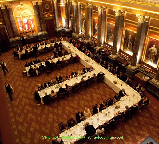 Dining in Drapers' Hall