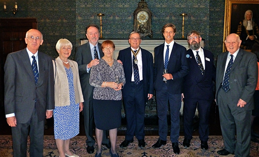 The Master with Liverymen of the Plumbers Company who are members of Bridge Ward Club, with their invited guest Carl Jørgen Sundet Flaen. Carl is the Club's Norwegian Business Student for 2017.
