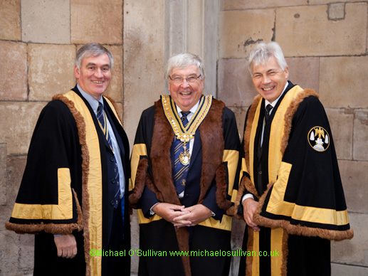 The Master, Charles Yuill; Upper Warden Nick Gale; Renter Warden Stephen Hodkinson