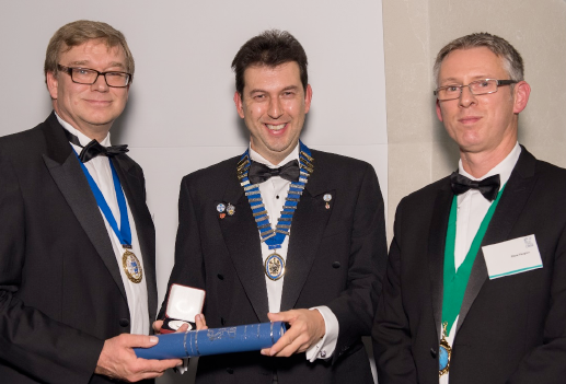 Nick Mead CIBSE President, Chris Northey, Steve Vaughan  SoPHE Chairman