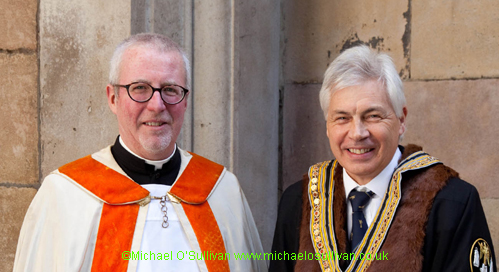 Our Chaplain, The Rev Philip Warner with the Master
