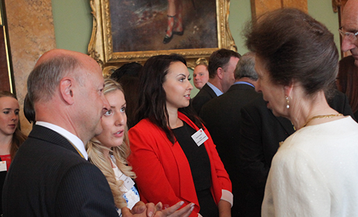 Princess Anne talking to the Clerk and Poppy