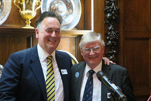 Immediate Past Senior Steward Ian Paddock with the Senior Steward Ian Smith