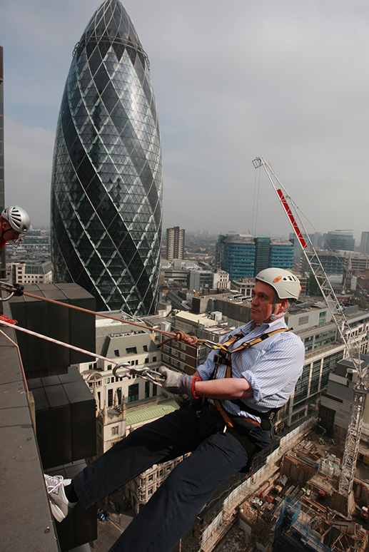 Abseiling down the LLoyds Building