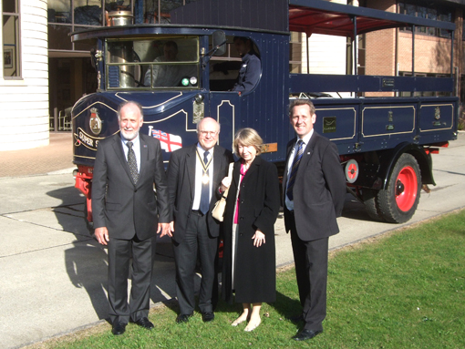 The Plumbers Group and the steam lorry Super Sentinal