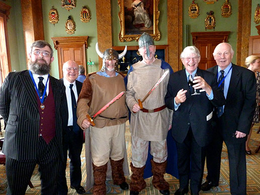 The Plumbers - Liveryman Michael Cooper, PM John Lockyer, Viking Stephen Wagstaffe, Viking Liverymen John Carnaby, David Aggett and Ivan Whitting.