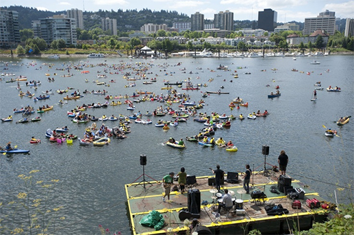 The Big Float on the River Willamette, Portland Oregon